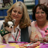 Abby - The Therapy Dog ACE Award recipient at the Chihuahua booth