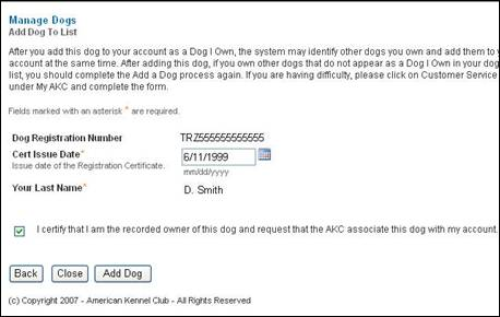 American Kennel Club - Online Litter Registration